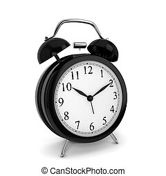 Alarm clock. 3d illustration isolated on white background