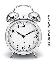 Alarm clock. 3d illustration on white background
