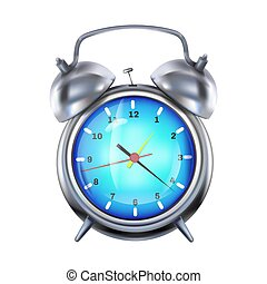 Alarm clock 3d realistic vector illustration