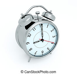 Alarm clock - 3D render of an alarm clock