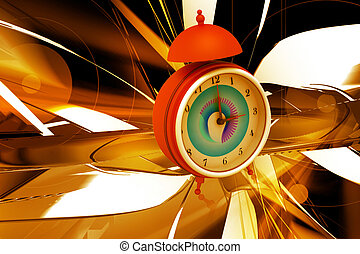 Alarm clock - 3d rendering of alarm clock in digital color ...