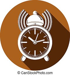 Alarm-clock 3d vector symbol, best for use in graphic design. Call the waiter concept. Time management theme.