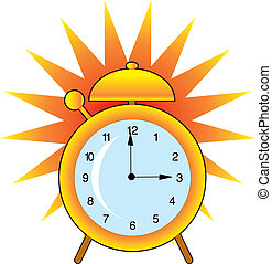 Alarm Clock - A ringing alarm clock with big bell and...