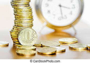 Alarm clock and money
