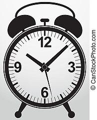 Alarm clock app icon, vector illust