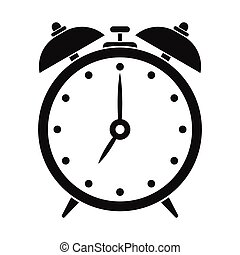 Alarm clock black simple icon