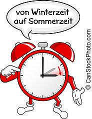 alarm clock change to daylight saving time