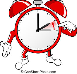 alarm clock change to standard time - vector illustration of...