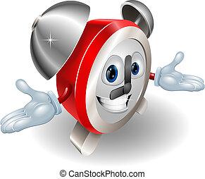 Alarm clock character illustration - Illustration of a cute...