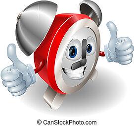 Alarm clock character mascot