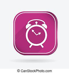 alarm clock. Color square icon