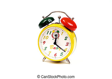 Alarm-clock - Colourful alarm-clock isolated