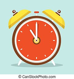 Alarm Clock Flat Design Icon