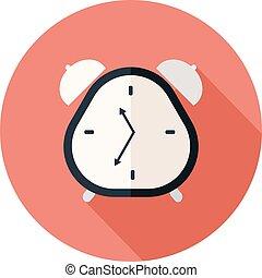 Alarm clock flat design