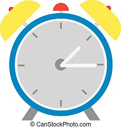 Alarm clock flat design style.