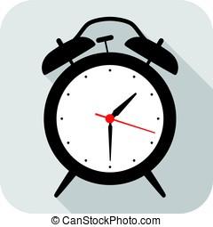 Alarm Clock flat fashion icon design