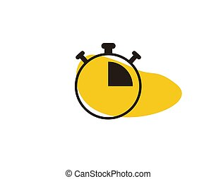 Alarm Clock Flat Icon on white background in vector illustration
