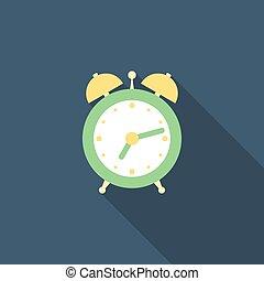 Alarm clock. Flat style