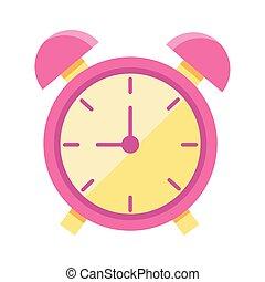 alarm clock flat style icon