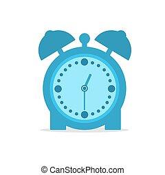 Alarm clock, flat vector illustration on white background.