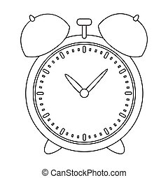 Alarm clock for early Wake up to school. Watch so as not to be late for school .School And Education single icon in outline style vector symbol stock illustration.