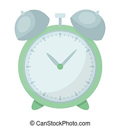 Alarm clock for early Wake up to school. Watch so as not to be late for school .School And Education single icon in cartoon style vector symbol stock illustration.