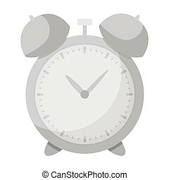 Alarm clock for early Wake up to school. Watch so as not to be late for school .School And Education single icon in monochrome style vector symbol stock illustration.