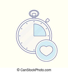 Alarm clock heart hour minute time timer icon