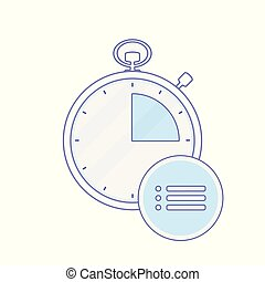 Alarm clock hour list minute time timer icon