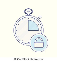 Alarm clock hour minute time timer unlock icon