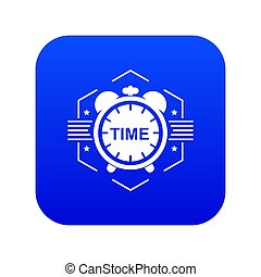 Alarm clock icon blue