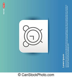 Alarm clock icon - Blue Sticker button