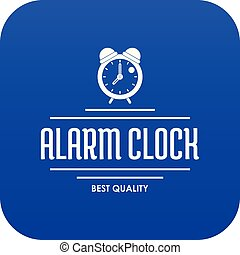Alarm clock icon blue vector
