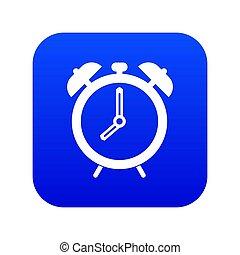 Alarm clock icon digital blue