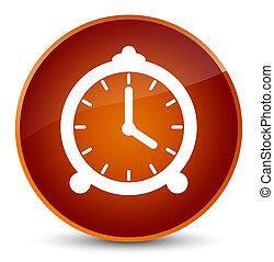 Alarm clock icon elegant brown round button