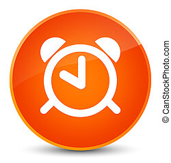 Alarm clock icon elegant orange round button