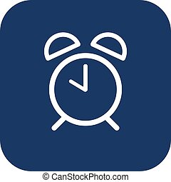 Alarm clock icon. Flat design