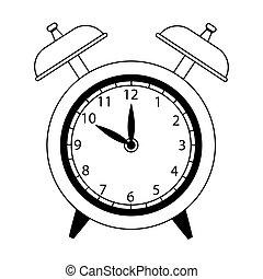 alarm clock icon, flat design