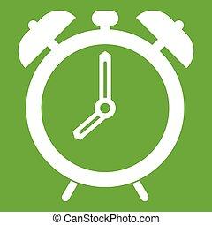Alarm clock icon green
