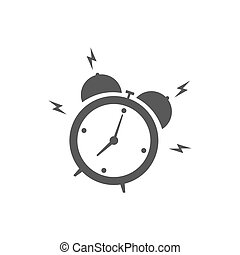 Alarm clock icon isolated on white background