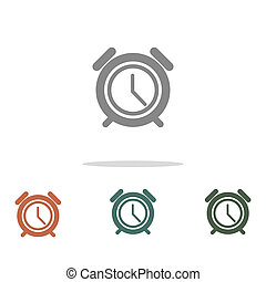 alarm clock icon isolated on white background