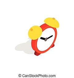 Alarm clock icon, isometric 3d style