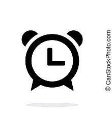 Alarm clock icon on white background.