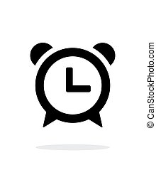 Alarm clock icon on white background.
