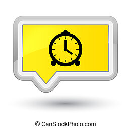 Alarm clock icon prime yellow banner button
