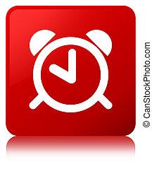 Alarm clock icon red square button