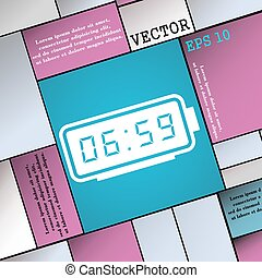alarm clock icon sign. Modern flat style for your design. Vector