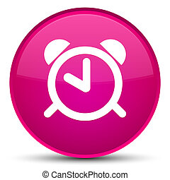 Alarm clock icon special pink round button