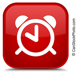 Alarm clock icon special red square button