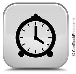 Alarm clock icon special white square button